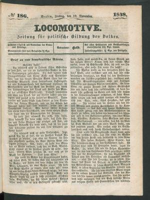 Locomotive vom 10.11.1848