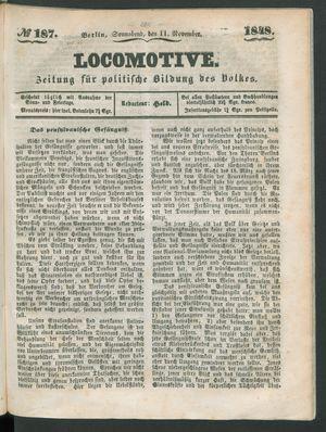 Locomotive vom 11.11.1848