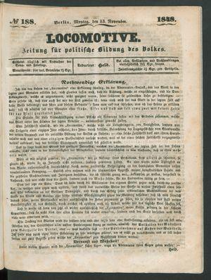 Locomotive vom 13.11.1848