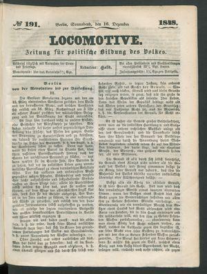 Locomotive vom 16.12.1848