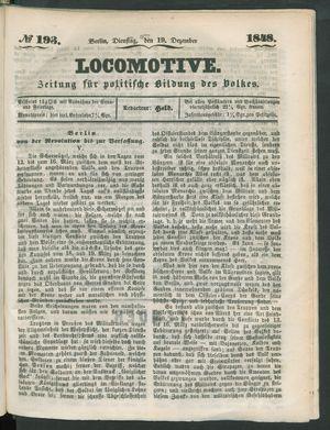 Locomotive vom 19.12.1848