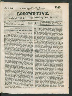 Locomotive vom 22.12.1848