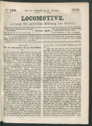 Locomotive vom 27.12.1848