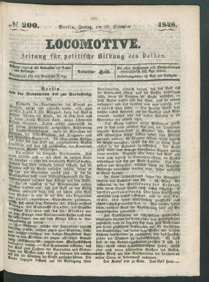 Locomotive vom 29.12.1848