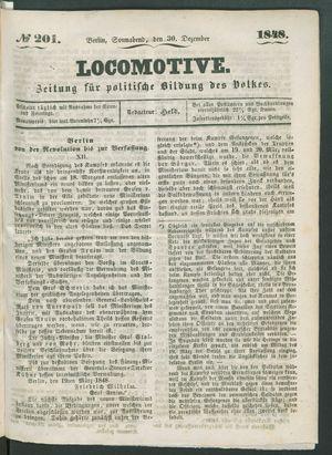 Locomotive vom 30.12.1848