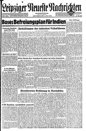 Leipziger neueste Nachrichten und Handelszeitung  vom 03.07.1943