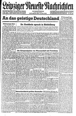 Leipziger neueste Nachrichten und Handelszeitung  vom 10.07.1943
