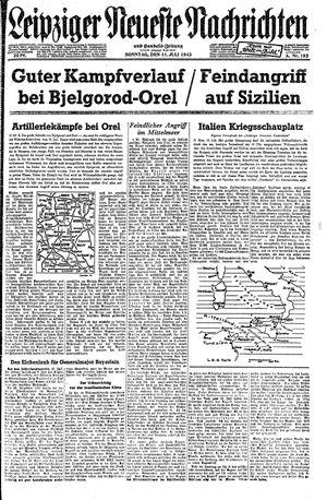 Leipziger neueste Nachrichten und Handelszeitung  vom 11.07.1943