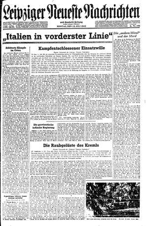 Leipziger neueste Nachrichten und Handelszeitung  vom 12.07.1943