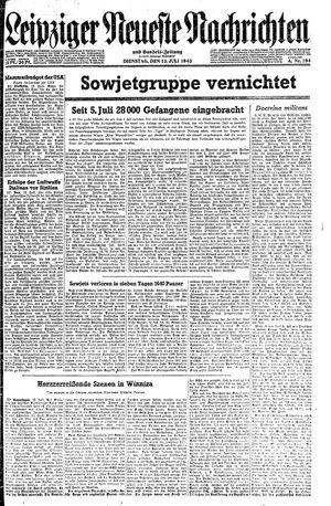 Leipziger neueste Nachrichten und Handelszeitung  vom 13.07.1943
