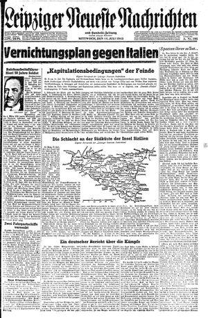 Leipziger neueste Nachrichten und Handelszeitung  vom 14.07.1943