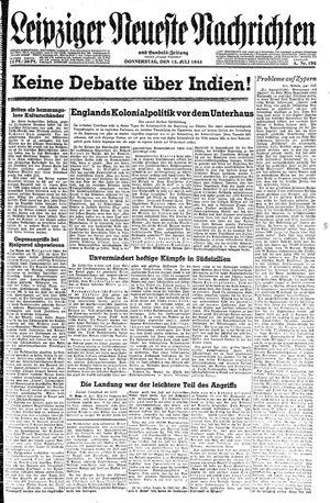 Leipziger neueste Nachrichten und Handelszeitung  vom 15.07.1943