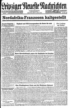 Leipziger neueste Nachrichten und Handelszeitung  vom 18.07.1943