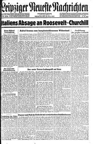 Leipziger neueste Nachrichten und Handelszeitung  vom 20.07.1943
