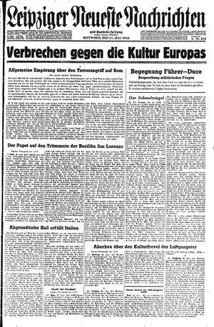 Leipziger neueste Nachrichten und Handelszeitung  vom 21.07.1943