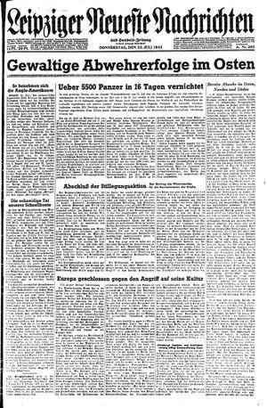 Leipziger neueste Nachrichten und Handelszeitung  vom 22.07.1943