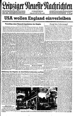 Leipziger neueste Nachrichten und Handelszeitung  vom 23.07.1943