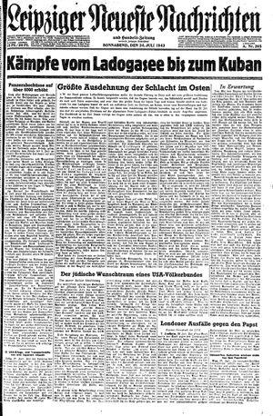 Leipziger neueste Nachrichten und Handelszeitung  on Jul 24, 1943