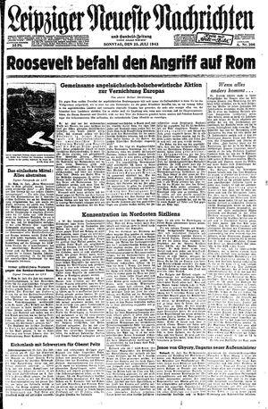Leipziger neueste Nachrichten und Handelszeitung  vom 25.07.1943