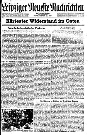 Leipziger neueste Nachrichten und Handelszeitung  vom 26.07.1943