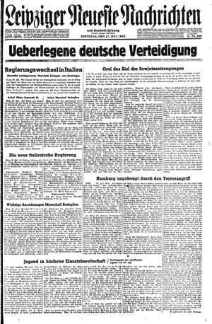 Leipziger neueste Nachrichten und Handelszeitung  vom 27.07.1943