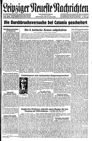 Leipziger neueste Nachrichten und Handelszeitung  vom 28.07.1943