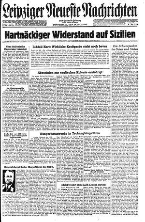 Leipziger neueste Nachrichten und Handelszeitung  vom 29.07.1943