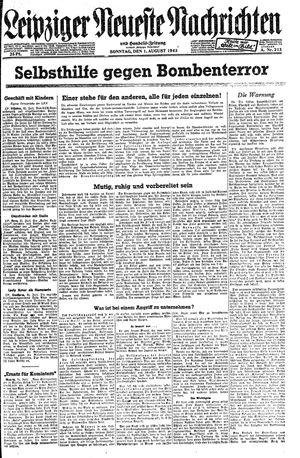 Leipziger neueste Nachrichten und Handelszeitung  vom 01.08.1943