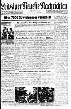 Leipziger neueste Nachrichten und Handelszeitung  vom 02.08.1943