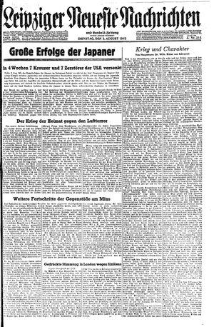Leipziger neueste Nachrichten und Handelszeitung  vom 03.08.1943