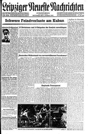 Leipziger neueste Nachrichten und Handelszeitung  on Aug 4, 1943