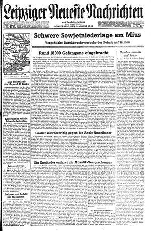 Leipziger neueste Nachrichten und Handelszeitung  vom 05.08.1943