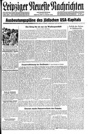 Leipziger neueste Nachrichten und Handelszeitung  vom 06.08.1943