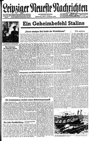 Leipziger neueste Nachrichten und Handelszeitung  on Aug 8, 1943