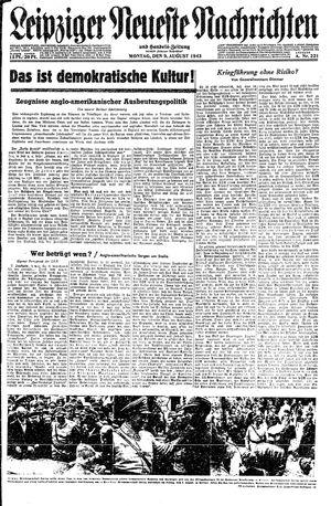 Leipziger neueste Nachrichten und Handelszeitung  vom 09.08.1943