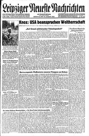 Leipziger neueste Nachrichten und Handelszeitung  vom 10.08.1943