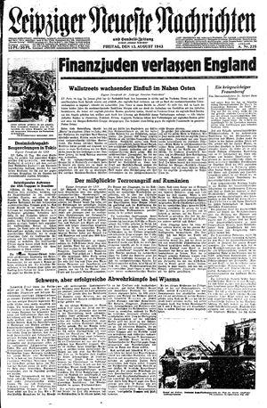 Leipziger neueste Nachrichten und Handelszeitung  on Aug 13, 1943