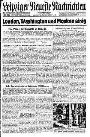 Leipziger neueste Nachrichten und Handelszeitung  vom 14.08.1943