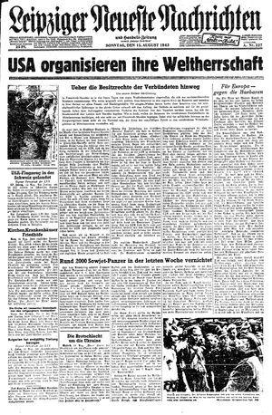 Leipziger neueste Nachrichten und Handelszeitung  vom 15.08.1943