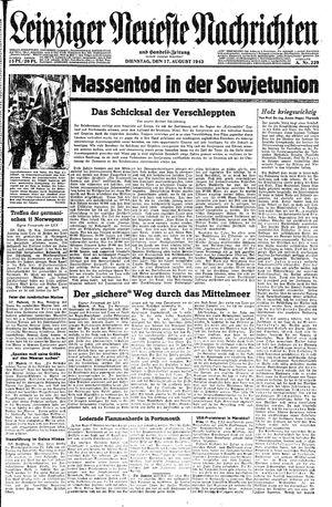 Leipziger neueste Nachrichten und Handelszeitung  on Aug 17, 1943