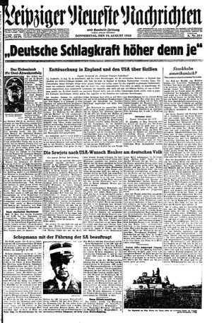 Leipziger neueste Nachrichten und Handelszeitung  vom 19.08.1943