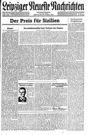 Leipziger neueste Nachrichten und Handelszeitung  vom 20.08.1943