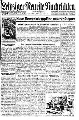 Leipziger neueste Nachrichten und Handelszeitung  vom 21.08.1943