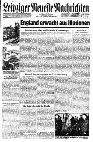 Leipziger neueste Nachrichten und Handelszeitung  vom 22.08.1943