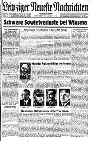 Leipziger neueste Nachrichten und Handelszeitung  vom 25.08.1943