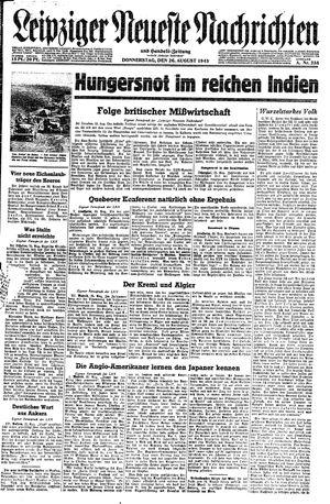 Leipziger neueste Nachrichten und Handelszeitung  vom 26.08.1943