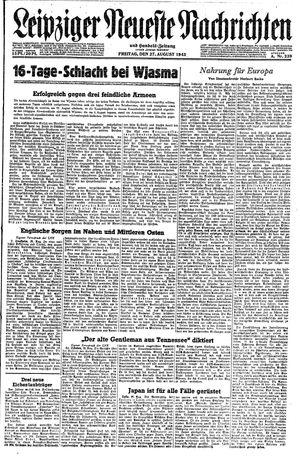 Leipziger neueste Nachrichten und Handelszeitung  vom 27.08.1943