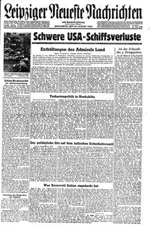 Leipziger neueste Nachrichten und Handelszeitung  on Aug 28, 1943