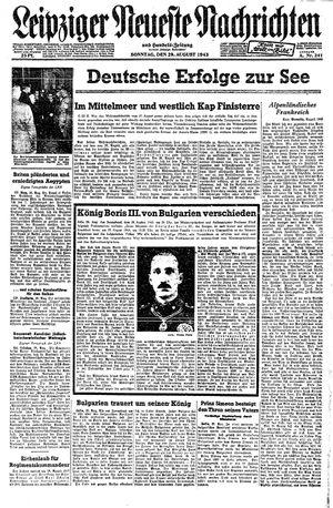 Leipziger neueste Nachrichten und Handelszeitung  vom 29.08.1943