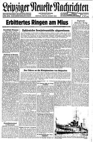 Leipziger neueste Nachrichten und Handelszeitung  vom 30.08.1943